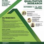 Flyer for the AQRA conference with photos of keynote and plenary speakers